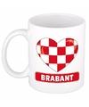 Brabantse vlag hartje theebeker 300 ml