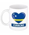 Curacao vlag hartje theebeker 300 ml