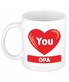 Hartje I love you Opa mok / beker 300 ml