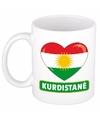 Koerdische vlag hartje theebeker 300 ml