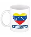 Venezolaanse vlag hartje theebeker 300 ml
