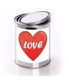 Valentijn cadeauverpakking blik met hartje